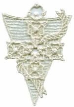 2 7/8'' by 2'' Venice Applique - Ivory, White2 7/8'' by 2'' Venice Applique - Ivory, White