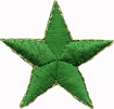Green - Star with gold edgeGreen - Star with gold edge
