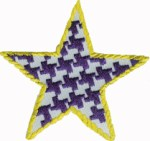 3'' - 7.6 cm -  Iron On Star Applique - Purple, Pink3'' - 7.6 cm -  Iron On Star Applique - Purple, Pink