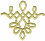 4'' by 3 5/8'' Iron On Metallic Gold Applique4'' by 3 5/8'' Iron On Metallic Gold Applique