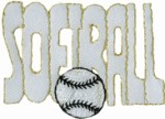 2 1/2'' by 1 3/8'' SOFTBALL Applique2 1/2'' by 1 3/8'' SOFTBALL Applique