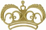 5 3/8'' by 3 1/2'' Gold Crown Applique5 3/8'' by 3 1/2'' Gold Crown Applique