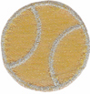 1 3/8'' - 3.5cm - Metallic Baseball Applique1 3/8'' - 3.5cm - Metallic Baseball Applique