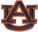 1 7/16'' by 1 11/16'' Auburn AU Iron Applique1 7/16'' by 1 11/16'' Auburn AU Iron Applique