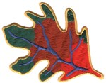 3 1/2'' by 5'' Leaf Applique3 1/2'' by 5'' Leaf Applique