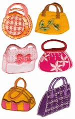 6 Piece Iron On Purses Applique Set6 Piece Iron On Purses Applique Set