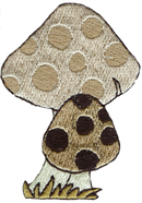 1 3/4'' by 1 1/2'' Mushroom Iron On Applique1 3/4'' by 1 1/2'' Mushroom Iron On Applique