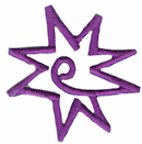 1 5/8'' by 1 5/8'' Iron On Purple Star Applique1 5/8'' by 1 5/8'' Iron On Purple Star Applique