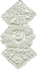 1'' by 1 3/4'' Ivory Venice Applique1'' by 1 3/4'' Ivory Venice Applique