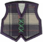 2 1/8'' by 2'' Iron On Plaid Vest Applique - 2 Colors2 1/8'' by 2'' Iron On Plaid Vest Applique - 2 Colors