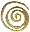 1 1/2'' - 3.8cm - Metallic Gold Swirl Applique1 1/2'' - 3.8cm - Metallic Gold Swirl Applique