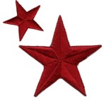 Set of 2 Iron On Stars Applique - Scarlet WineSet of 2 Iron On Stars Applique - Scarlet Wine
