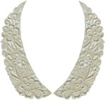 7 1/4'' by 2 3/4'' Natural Venice Collar Set - L/R7 1/4'' by 2 3/4'' Natural Venice Collar Set - L/R