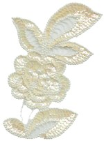 4 3/4'' by 6 3/4'' Beaded & Sequined Flower Applique4 3/4'' by 6 3/4'' Beaded & Sequined Flower Applique