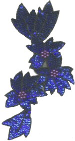 9 3/8'' by 4 3/4'' Beaded & Sequined Applique9 3/8'' by 4 3/4'' Beaded & Sequined Applique