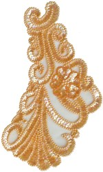 5 1/2'' by 9 1/4'' Peach Beaded & Sequined Applique5 1/2'' by 9 1/4'' Peach Beaded & Sequined Applique