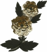 8 1/4'' by 9 3/4'' Gold Sequins & Black Beads Flower Applique8 1/4'' by 9 3/4'' Gold Sequins & Black Beads Flower Applique
