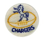 2'' - 5.1 cm - Chargers Football Patch - Blue, Yellow Gold2'' - 5.1 cm - Chargers Football Patch - Blue, Yellow Gold