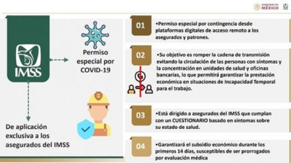 Tramita el Permiso Covid-19 a través de la plataforma electrónica habilitada por el IMSS