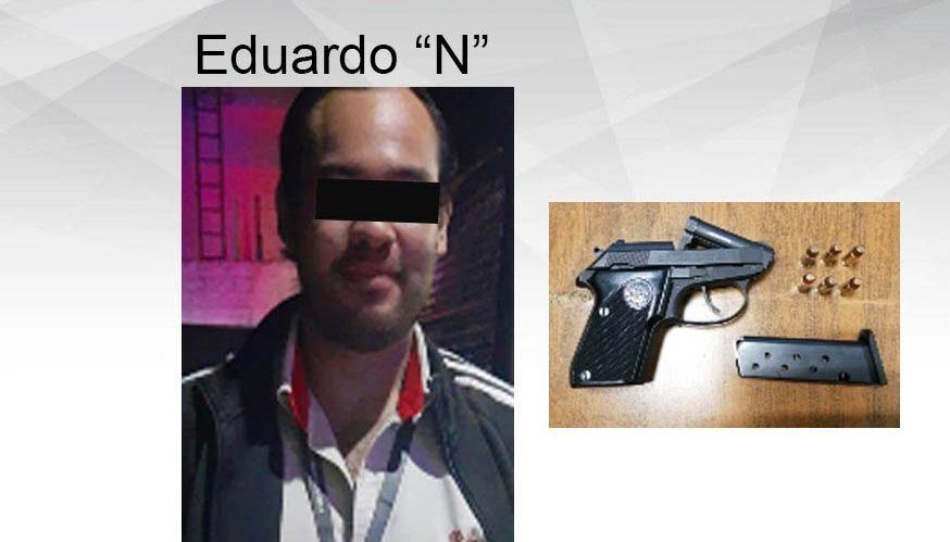 Detienen elementos de la Policía Morelos a un hombre por portar un arma de fuego en Yautepec