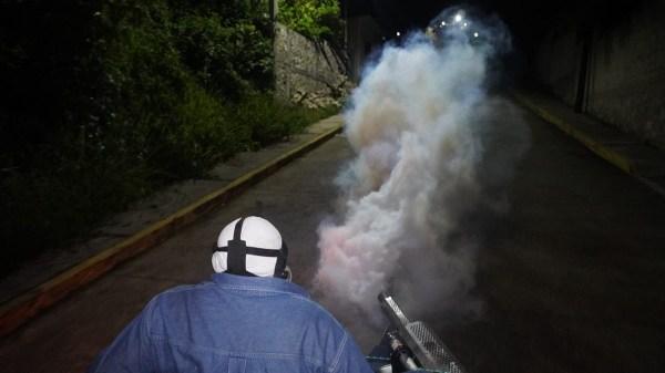 jornadas de nebulización para prevenir la transmisión de dengue, zika y chikungunya en Jiutepec