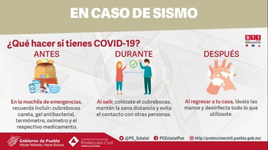qué hacer en caso sismo si tienes Covid-19