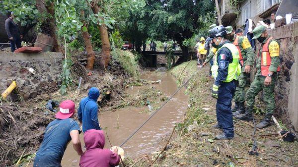 Lluvias en Morelos dejan 323 viviendas afectadas, 4 muertos y varias personas desaparecidas