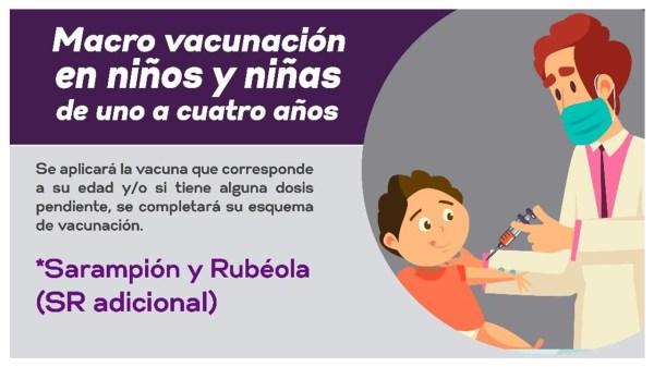 Macro Vacunación Para Niños De 1 A 4 Años De Edad En Tepoztlán hoy 24 de Septiembre De 2021