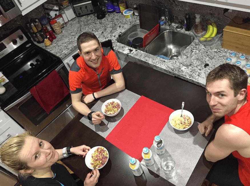 Love Grown Cereal party post 100 KM indoor trainer ride