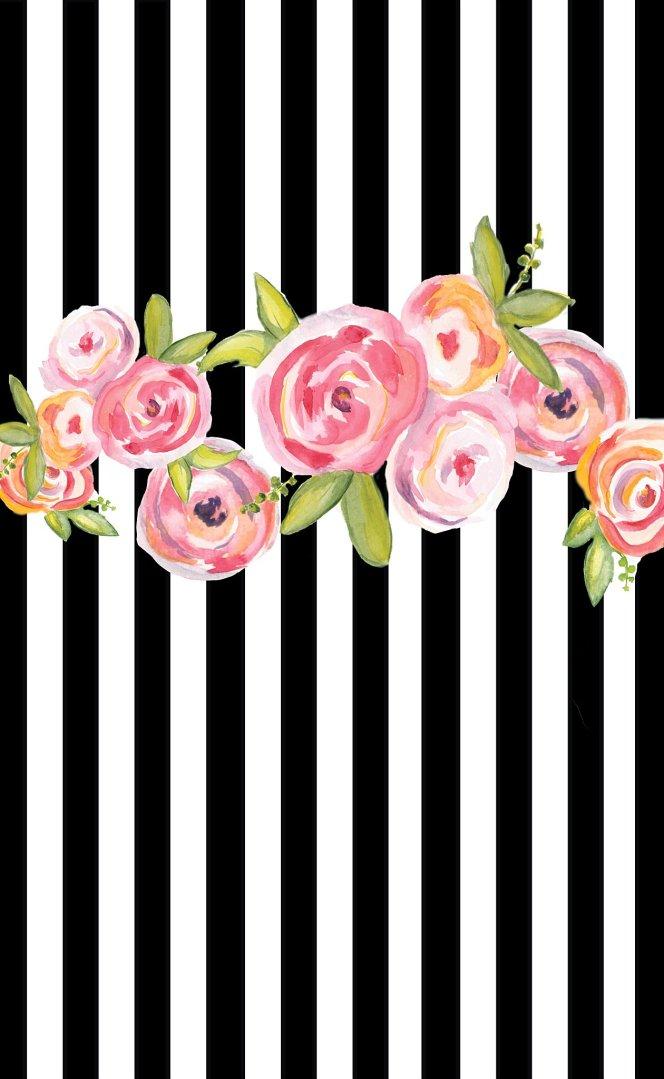 Floral painted cake smash photo backdrop