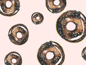 Donuts about you food cake smash photo backdrop