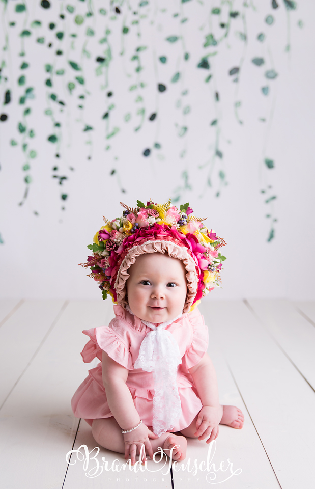 Watercolor hanging ivy child photo backdrop