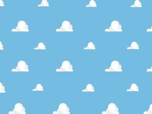 White clouds on blue sky cake smash photo backdrops