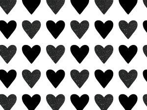 Black Heart monochromatic Photo backdrop