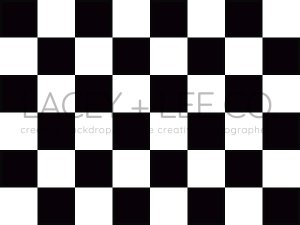 checkered black and white Photo floordrop