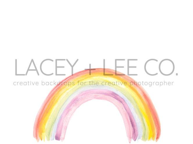 Water color rainbow photo backdrop