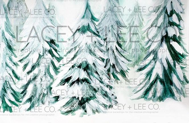 Snow Fallen Trees