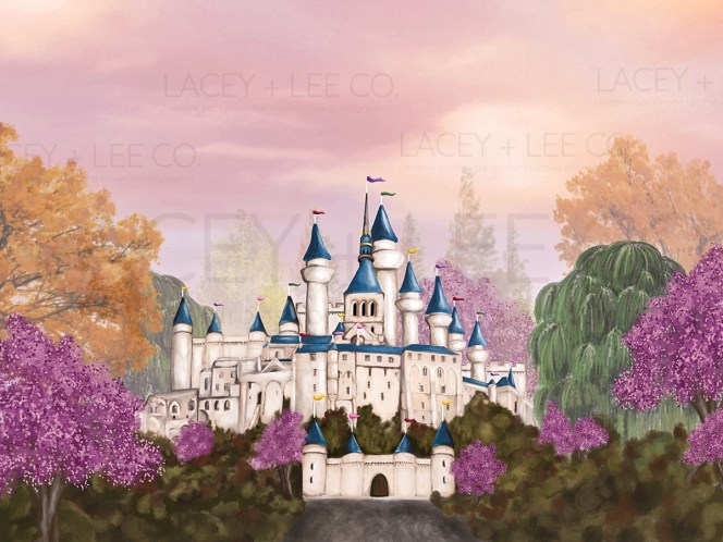 Charming Princess hand painted photography Backdrop
