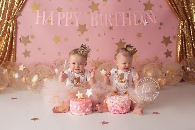 Twinkle Twinkle Little Star Cake Smash Photography Backdrop