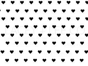 Black small hearts valentines day photo