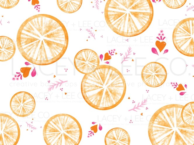 Main Squeeze Orange Photo Backdrop