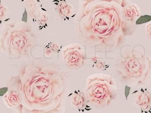 Pink Roses Watercolor Photo Backdrop