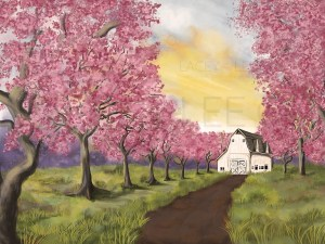 Spring on the Farm photo backdrop