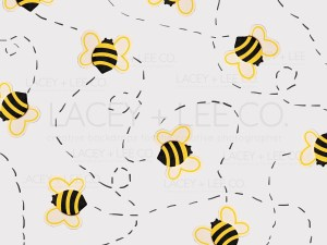 Small bees on a white backdrop