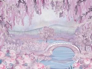 Blooming Pastel Spring Backdrop