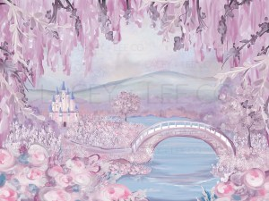 Fairytale Once upon a time spring backdrop