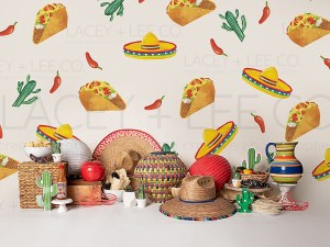 Fiesta Party Photo Backdrop