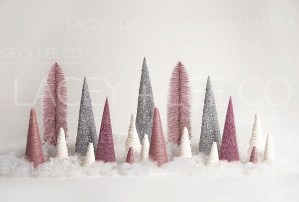 Pink Sparkle Tree Photo Backdrop