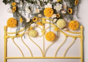 Sunflower Garden Headboard
