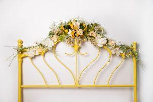 Golden Yellow Flower Headboard